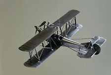 WWI WWII BIPLANE Airplane Custom Metal ART Office Desk DECOR Moving Propeller
