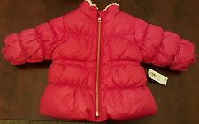 NWT Old Navy Baby Girl's Winter Frost-free Puffer Jacket Red Size 3-6 Months
