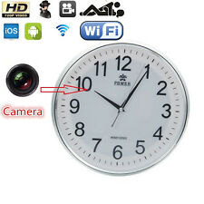 Wireless 1280*720 WiFi HD Wall Clock Video P2P Camera DVR Digital Video Recorder