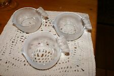 """3 Serving Set Fish Shaped BOWLS 3.5""""X4""""X 1.5""""H GREAT FOR DIPS,SAUCES,ETC."""