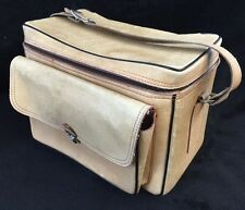 Vtg Leather Camera Case Bag Perrin The Sportsman 504  Genuine Cowhide Made USA