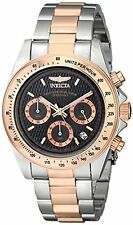 Invicta 6932 Men's Speedway Chronograph 18K Rose Gold Plated & SS Watch