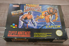 Saturday Night Slammasters boxed complete Super Nintendo / Snes Pal Version