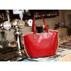Handtasche schwarz rot braun Damen Tasche Shopper Umhängetasche PU Leder Style