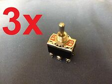 3 Pieces (Black) DPDT momentary switch on/off/on motor reverse  Polarity DC Moto