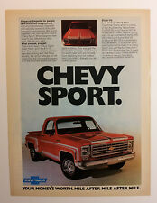 1976 Chevy Stepside Pickup Truck Ad - Must See !!