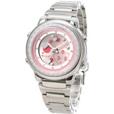 CASIO LAW-25D-4A LADY'S ANALOG DIGITAL WORLD TIME ALARMS STAINLESS STEEL WATCH
