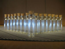 100 1.8ml Small Glass Bottles With Corks. Clear Empty Glass Corked Vials Jars.