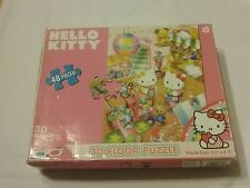 Sanrio Hello Kitty 3D floor puzzle jigsaw 3 ft. by 2 ft. 100% w/ 3D glasses