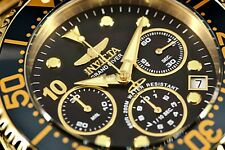 New Invicta 47mm GRAND DIVER Swiss Chronograph Gold Tone Black MOP Dial Watch