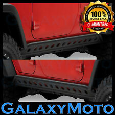 Jeep JK 07-16 Wrangler 4 Door Black Rock Crawler Side Slider Armor Rocker Guards