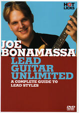 JOE BONAMASSA Lead Guitar Unlimited Instructional DVD VIDEO to Lead Styles & PDF
