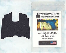 Tractiongrips textured rubber grip overlay for Ruger 22/45 pistols w/fixed grips