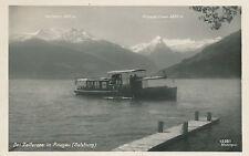 AK der Zellersee im Pinzgau mit Motorschiff, Salzburg     (B9)