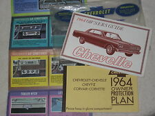 ORIGINAL 1964 CHEVROLET OWNERS GUIDE,PROTECTION PLAN & BROCHURE,IN ENVELOPE NICE