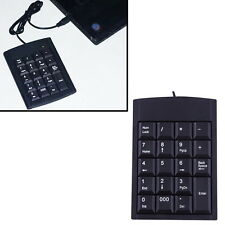 19 Keys Wired USB Number Pad Numeric Keypad Laptop Mini Keyboard