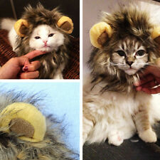 Pet Costume Cosplay Lion Mane Wig Head Warm Hat Dog Cat With Ears Party Clothes