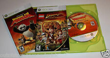 Lego Indiana Jones and Kung Fu Panda Dual Pack (Xbox 360, 2008) Manuals Included