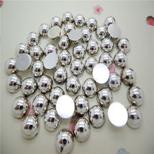 Bard new Half Pearl Round Beads Flat Back 8mm 400 pcs Scrapbook for Craft  CTC11