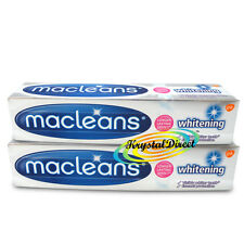 2x Macleans Whitening Fluoride Toothpaste 100ml Enamel Protection
