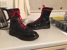 Vintage Dr Martens 1490 Black leather boots UK 9 EU 43 England punk goth kawaii
