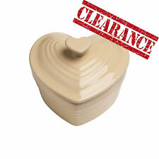Clearance Mini Heart Cream Stoneware Casserole Cooking Baking Oven Cocotte  New