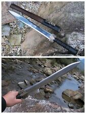 Hand Forge Chinese Short Sword Han Jian High Manganese Steel Sharp Alloy Fitting