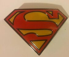 Superman belt buckle fits standard belt