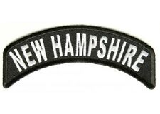 NEW HAMPSHIRE STATE EMBROIDERED ROCKER BIKER PATCH