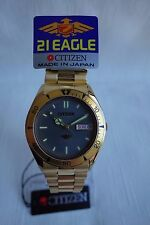 Brand New Rare Gold Tone CITIZEN AUTO Watch - 21 Jewels Eagle MADE IN JAPAN