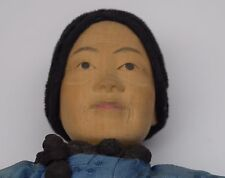 Lovely! Antique Door Of Hope Chinese Mission Doll! Carved Wood Original