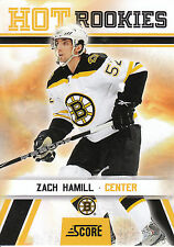10/11 SCORE GLOSSY ROOKIE RC #539 ZACH HAMILL BRUINS *8185