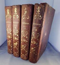 OEUVRES DE BUFFON T1 & 2 + HISTOIRE NATURELLE DE LACEPEDE T1 & 2 / 1839 FURNE