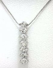 GENUINE 0.35 Carats DIAMONDS BAR 14k White Gold NECKLACE Msrp $1,000.00