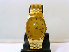 1970s LARGE GENTS OBLONG LONGINES GOLD PLATED BRACELET WATCH IN GOOD CONDITION