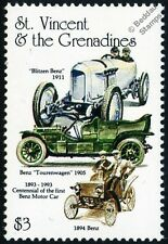 MERCEDES BENZ Car Automobile Stamp #2 (1911 Blitzen 1905 Tourenwagen 1894 Benz)