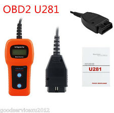 OBD2 OBDII Car U281 Diagnostic Scanner Code Reader AirBag ABS Engine Reset Tool