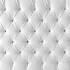 5ft x 5ft Headboard Photography Backdrop - Upholstered White Tufted- Item 1847