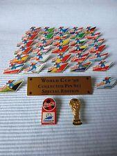 35 COCA COLA PINS WM FRANKREICH 1998 MIT MASKOTTCHEN KOMPLETT SATZ