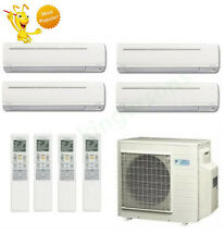 9k + 9k + 9k + 18k Btu Daikin Quad Zone Ductless Wall Mount Heat Pump AC