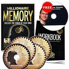 Millionaire Memory program Unleash the Power Of Your Mind Train Brain 4 CD +Book
