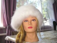 BERET HAT BEANIE handknitted 100% ANGORA RABBIT BUNNY yarn FIBER fur craft