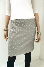 MARCCAIN LUXUS Skirt Taupe with Silver shimmer Size N3/38/M New Cotton Mix