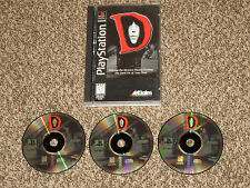 Great Shape! D Playstation 1 PS1 100% Complete Long Box Horror Game RARE LongBox