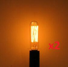 2-Pack 25W Edison T6 Radio Repro Antique Light Bulb E12 Candelabra Base 120V
