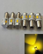 6 pcs Samsung  6 5630 SMD BA9S,  6253, 64111 High Power Yellow LED Projector Len