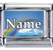 Rainbow Custom Name Pet Loved One 9mm Custom Italian Photo Charm