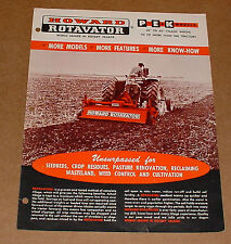 Howard Rotavator Sales Hand Out/Brochure
