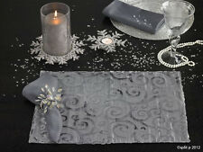 Velvet Scroll Platinum Holiday Placemat