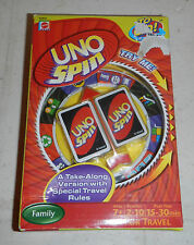 NEW Mattel Uno Spin To Go Travel Edition Family Card Game from 2009